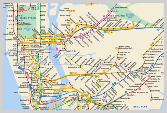 current version of new york city subway map